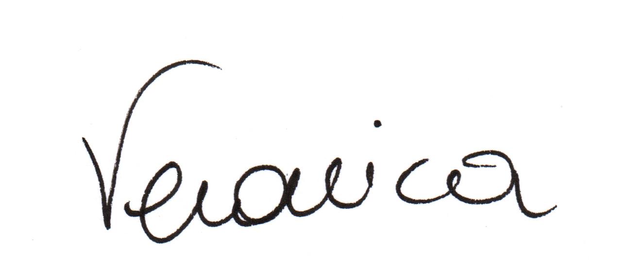 La firma della scrittrice biellese Veronica Rosazza Prin