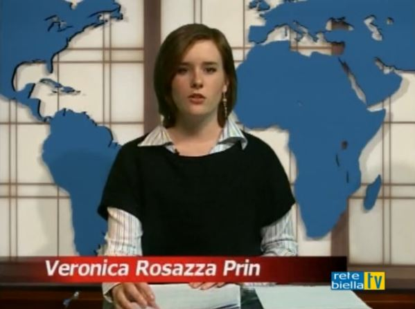 La scrittrice biellese Veronica Rosazza Prin conduce il suo primo Tg per Rete Biella TV