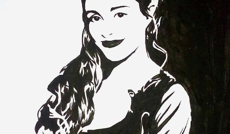 Veronica Rossa Prin paints Laura Bertram ad Trance Gemini in Gene Roddenberry's Andromeda