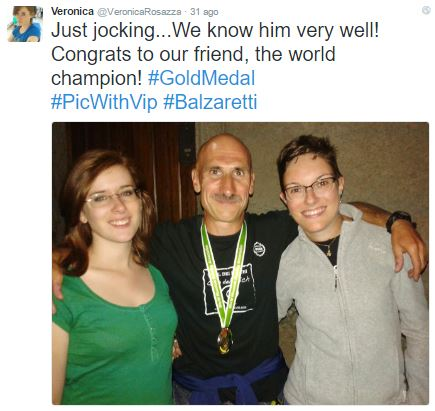 Veronica Rosazza Prin on Twitter, with Silvio Balzaretti, mountain-running world champion
