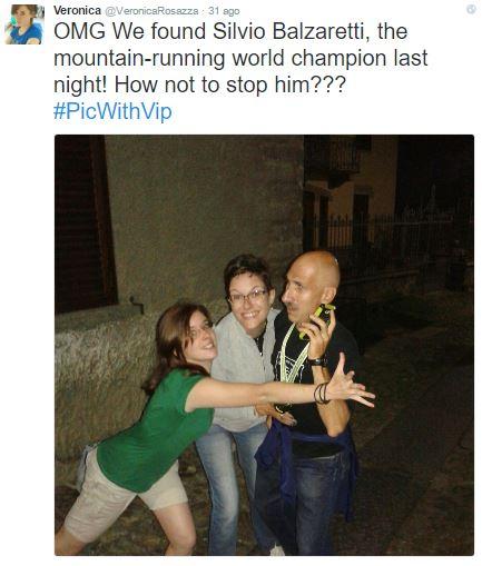 Sul profilo Twitter di Veronica Rosazza Prin, con Silvio Balzaretti.