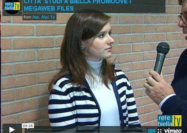L'autrice biellese Veronica Rosazza Prin intervistata da Marco Fulcheris in un'intervista realizzata da Rete Biella TV sui MegaWeb Files di Biella Città Studi.