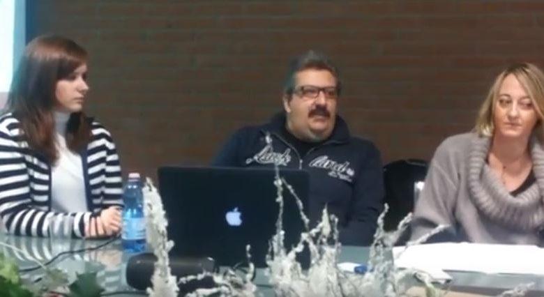 La scrittrice biellese Veronica Rosazza Prin alla presentazione dei MegaWeb Files a Biella Città Studi.